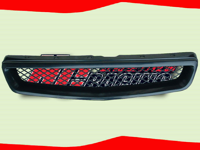 TYPE R STYLE FRONT GRILLE CIVIC 99-00 FACELIFT+COUPE 96-00 2 DOOR  / HC-CV990072A